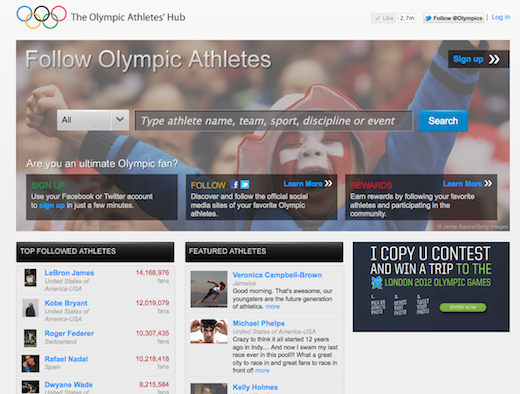 IOC Screen Grab 2 The Olympic Athletes Hub launches, giving fans behind the scenes access to London 2012