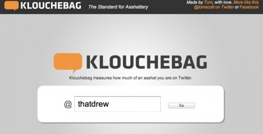 Klouchebag The Standard for Asshattery 1 520x265 Klouchebag is a wake up call for people who care about their Klout score