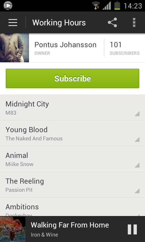 Playlist Spotify overhauls its Android app to add ICS support, new design, increased social and more