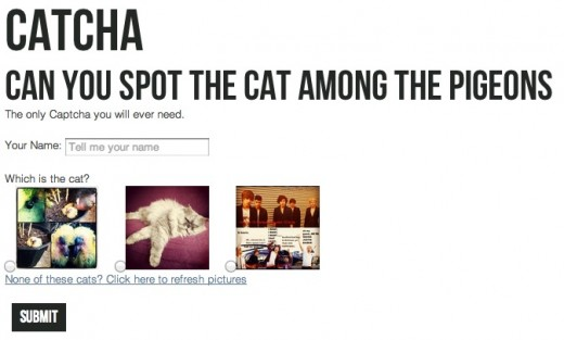 Screen Shot 2012 04 02 at 17.16.12 520x313 Hate CAPTCHAs? Catcha turns website security into a game of spot the cat