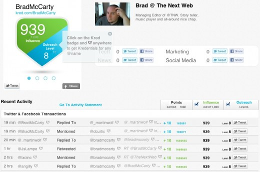 Screen Shot 2012 04 12 at 10.42.07 AM 520x345 Touting its transparency, Kred adds Facebook activity to its social influence scoring