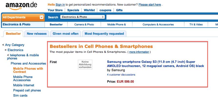 Samsung Galaxy S III Already Bestselling Smartphone on ...