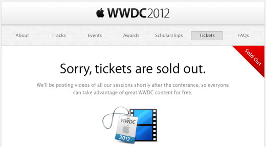 Screen Shot 2012 04 25 at 15.32.20 520x288 Apples WWDC 2012 event sells out in under two hours