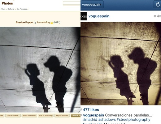 VogueSpain3 Instagrab: Vogue Spain caught red handed on Instagram with more stolen photos