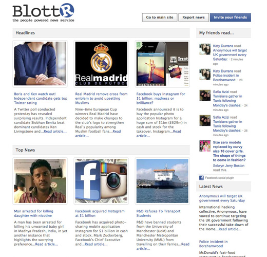blottrscreen Blottr brings citizen journalism headlines to Facebook with new app