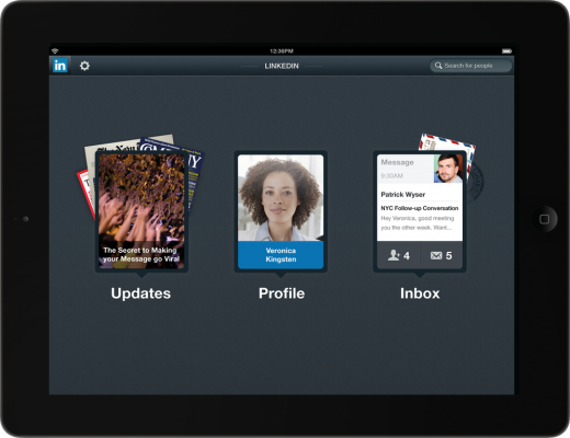 expose ipad frame 520x400 LinkedIn gets new Android and iOS apps, with a spectacular iPad version
