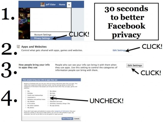 facebook lock down 30 secs 520x390 Secure your Facebook data from friends creepy apps in just 30 seconds