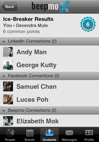 icebreaker.320x480 Mobile app Beepmo makes networking on LinkedIn as simple as Foursquare check ins