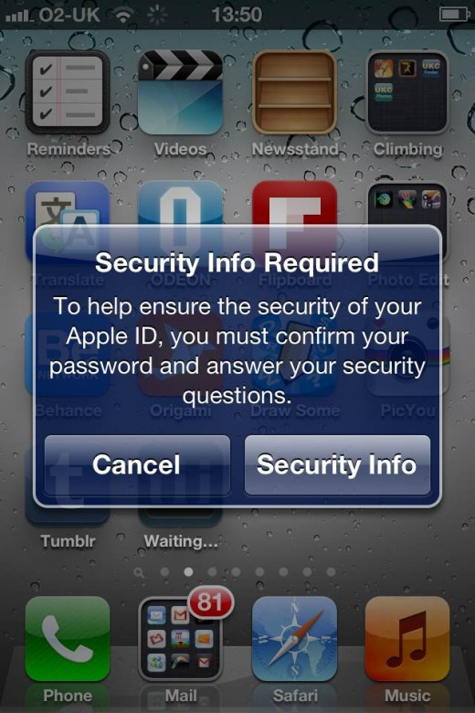how to find answers to security questions on itunes