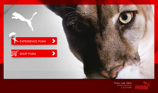puma 520x307 11 Killer splash page designs to get you inspired before your launch
