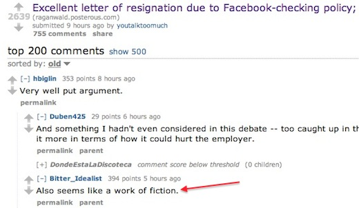 reddit Epic resignation letter is satire, sparks serious discussion about employee privacy and Facebook