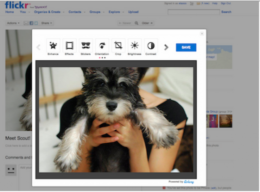 sflickr 520x385 Yahoo teams up with Aviary to bring HTML5 photo editing to 75M Flickr users