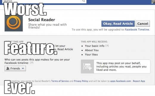 socialreader1 520x325 Heres how to skip that annoying Social Reader feature on Facebook if youre using Chrome