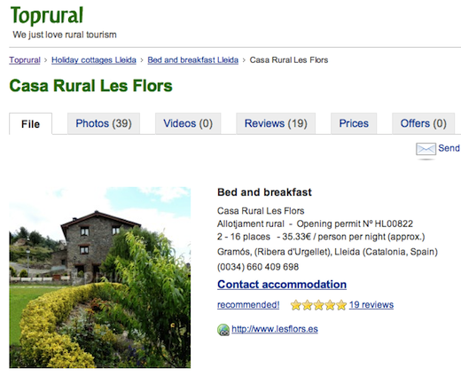 tr HomeAway acquires Spains rural tourism site Toprural in all cash deal [Updated]
