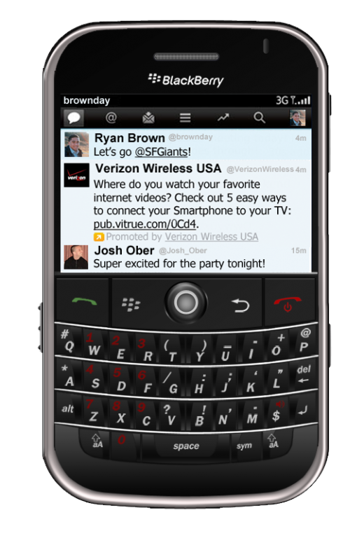 twitter blackberry3 520x765 Twitter announces Promoted Tweet advertising and targeting for BlackBerry