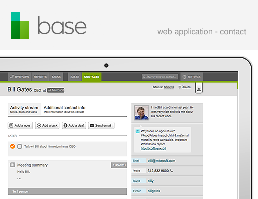 520 base web app contacts Base raises $6.8m from Index and others for cross platform CRM, sales tracking tool