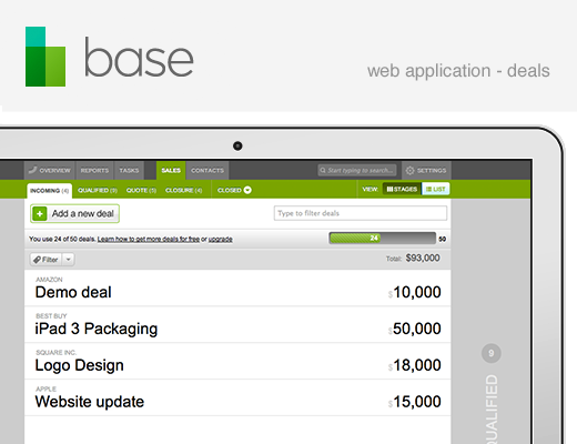 520 base web app deals Base raises $6.8m from Index and others for cross platform CRM, sales tracking tool