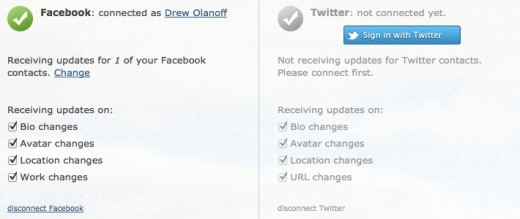 Dashboard NetworkUpdater.com  520x219 Networkupdater lets you know when your Facebook or Twitter friends make profile changes