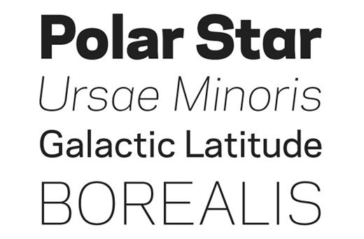 Galaxie Polaris 30 of The Best Alternatives to Helvetica