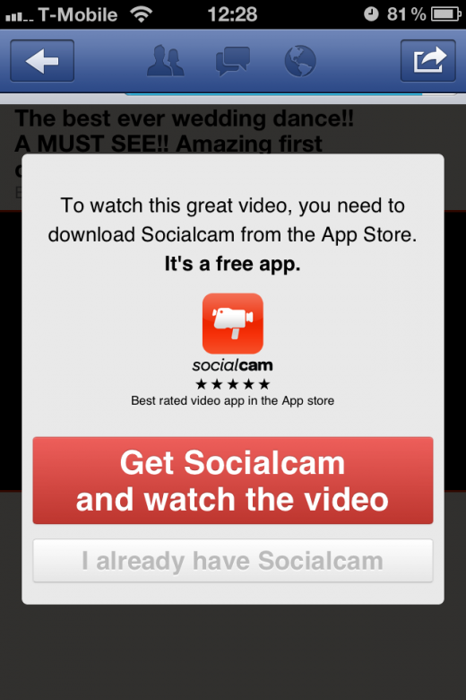 IMG 2494 520x780 Socialcam is pumping popular YouTube videos into its app to drive usage. Smart or seedy?
