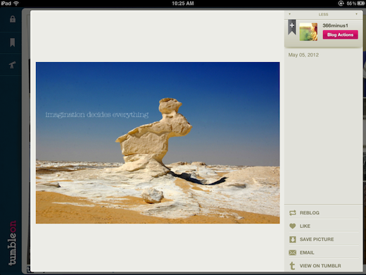 Photo TumbleOn gives iPad owners a gorgeous way to browse and share Tumblr photos