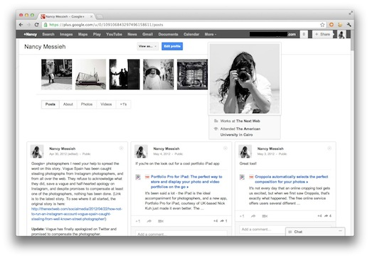 Profile Transform Google+ into the ultimate Pinterest clone with this userscript