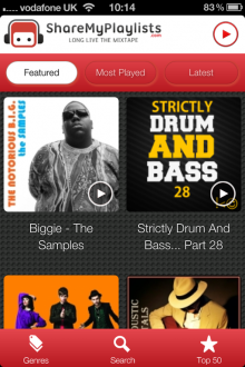 SMPiPhone1 220x330 ShareMyPlaylists new iOS app is a whole new way to experience Spotify on the go