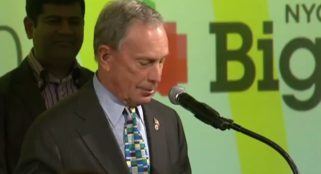 New York Mayor Mike Bloomberg speaks at the 2012 BigApps Awards