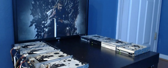 The Game of Thrones theme played on floppy drives is better than the original