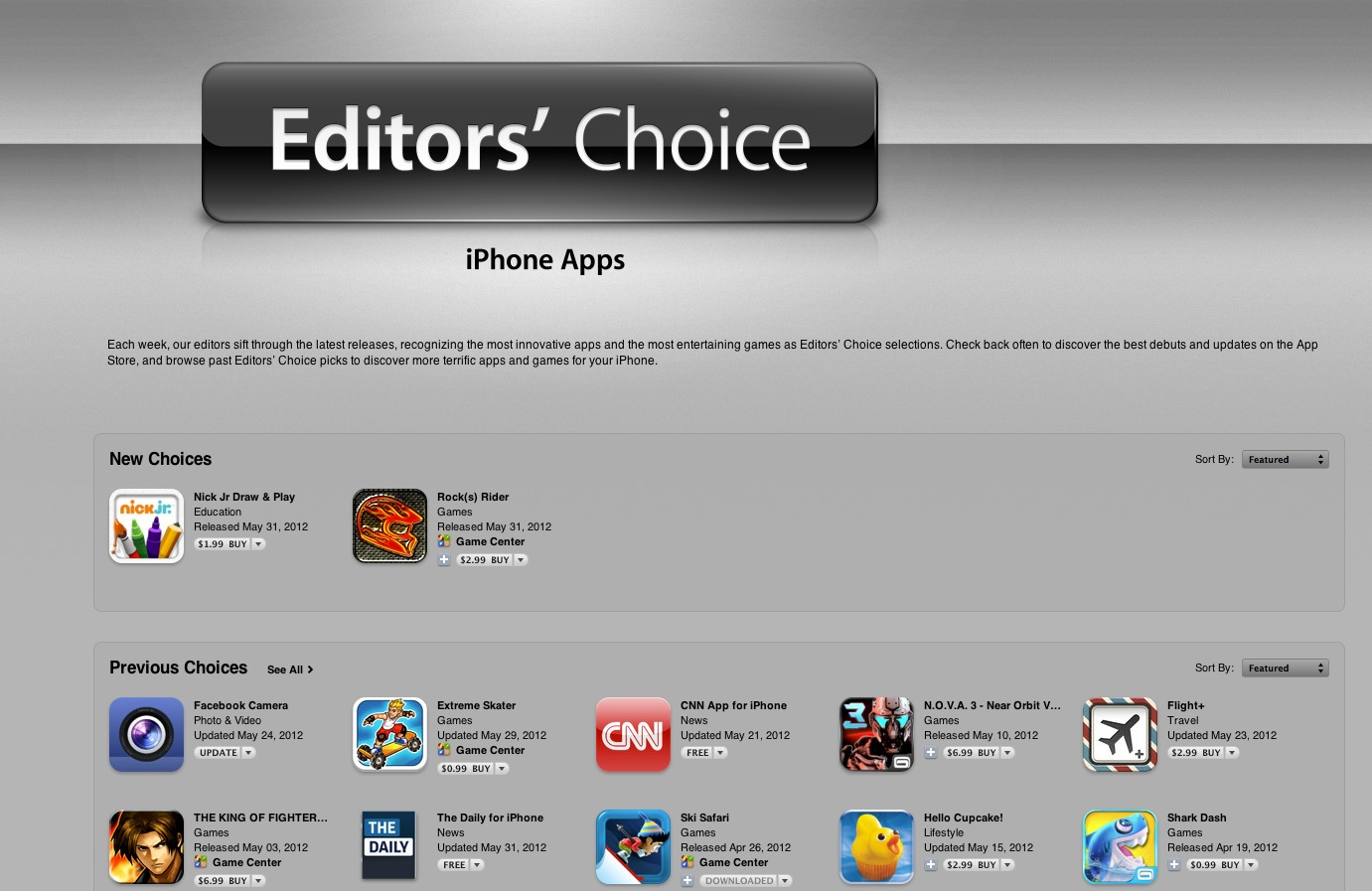 1521681c37 Apple Launches Dedicated Editor s Choice Section on App Store