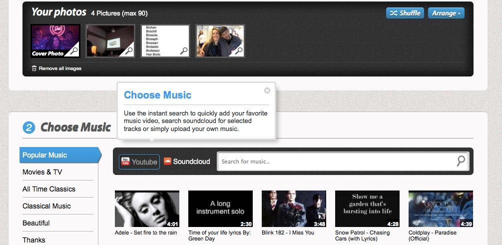 free online photo slideshow maker with music - Khafre