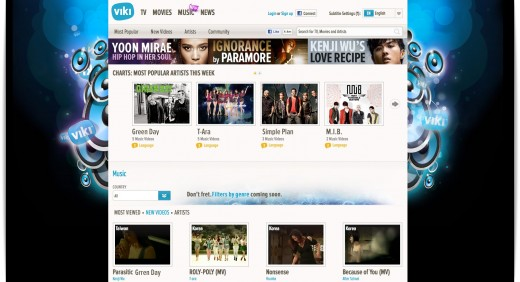 Viki Music Page Screenshot 520x282 Global video site Viki moves into music, inks deals with Warner Music and other labels
