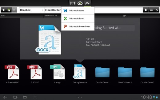 a3 520x325 'Office for iPad' CloudOn launches on Android tablets and integrates with Google Drive