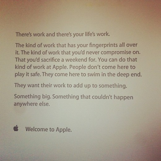 apple new hires 520x520 This inspiring note greets new Apple staff on their first day