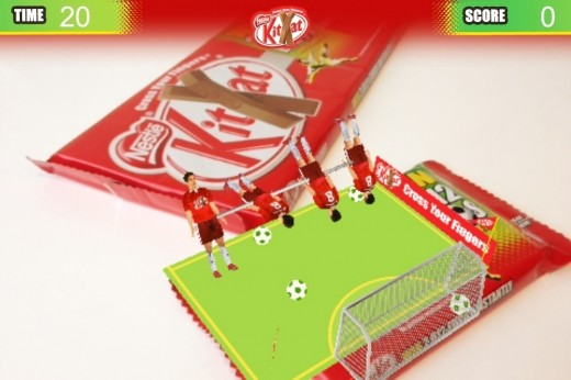 b 520x346 Blippar brings an augmented reality football game to Kit Kat wrappers
