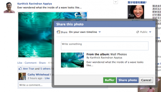 buffer facebook 520x299 Send it later service Buffer expands Chrome extension to support Facebook, Google Reader and more