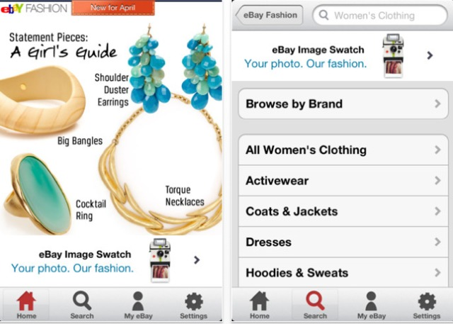 Ebay S Uk Fashion App Enables Colour Pattern Matching