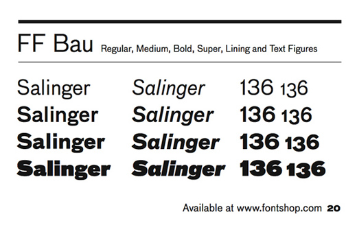 ff bau 30 of The Best Alternatives to Helvetica