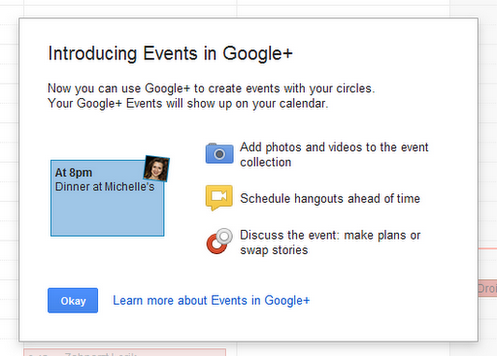 googleplusevents Spotted in the wild: Google+ Events feature on its way, with tie in to Google Calendar