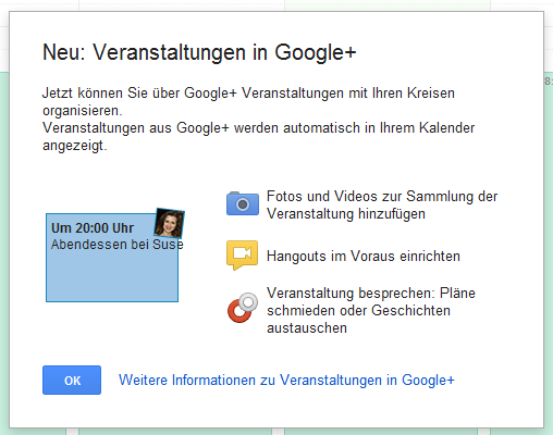 googlever Spotted in the wild: Google+ Events feature on its way, with tie in to Google Calendar