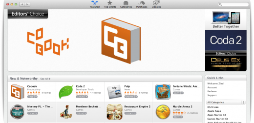 mac store ed choice 520x252 Apple improves app discovery with Editors Choice and free App of the Week features