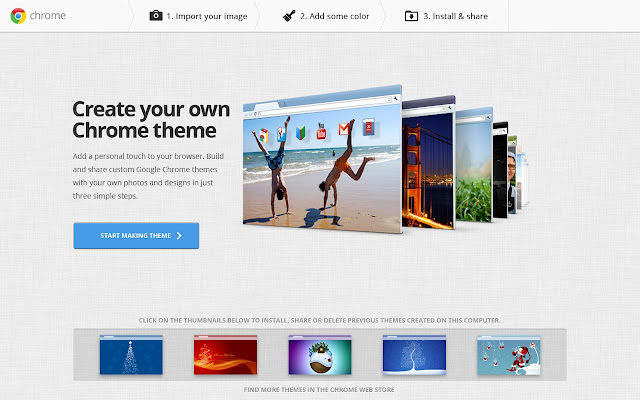 My Chrome Theme Lets You Personalize Your Browser