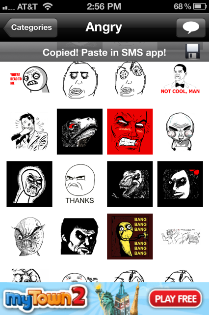 Tnw Pick Of The Day Sms Rage Faces