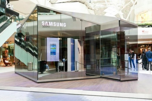 pin1 520x346 Samsung is introducing pop up stores in London for a slice of that Olympic money