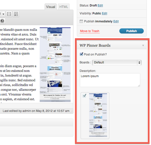 wppinner 1 Auto post images from WordPress to Pinterest with this handy plugin [Invites]