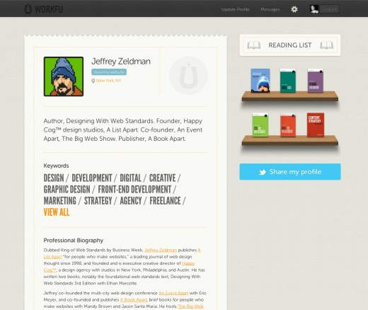 zeldman top 520x438 Inside WorkFu: The site that taps your social connections to find you the perfect job