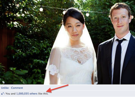 zuck2 Mark Zuckerbergs wedding status update passes 1 million Facebook likes