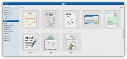 06 Types2 520x241 Doo.net launches in public beta to organize the worlds documents, reaches $10m in funding