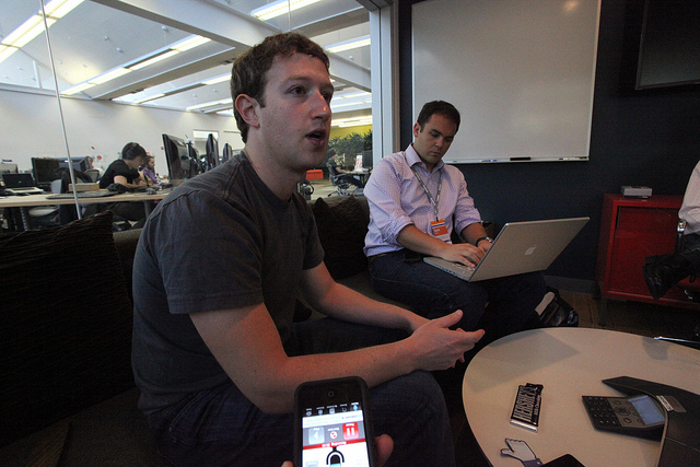 If you're trying out Airtime today, you might run into Mark Zuckerberg