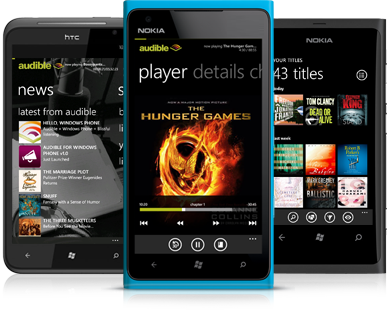 ADBLCRE 507 WP7 wireless page1 trans Amazons Audible.com brings 100,000 audiobooks to Windows Phone with its new app